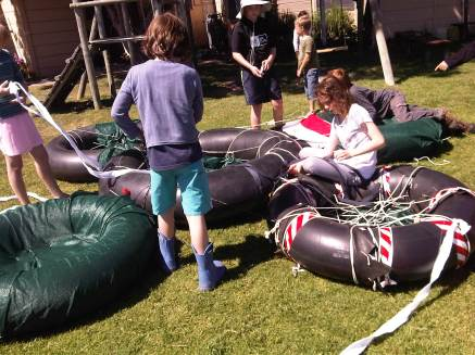 On the last day we joined all the rafts and prepared to set of on our Magical Water Safari