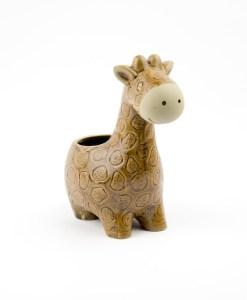 a planter in the shape of a giraffe