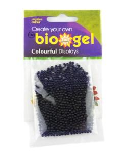 Purple biogel water beads in packaging