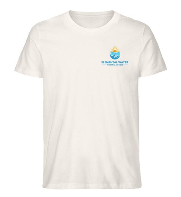Organic T-shirt with Colourful Logo - Men Premium Organic Shirt-6881