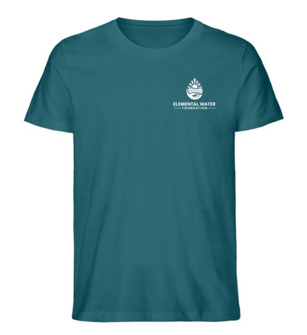 Organic T-shirt with White Logo - Men Premium Organic Shirt-6889