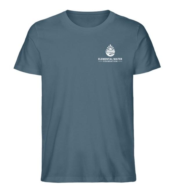 Organic T-shirt with White Logo - Men Premium Organic Shirt-6895