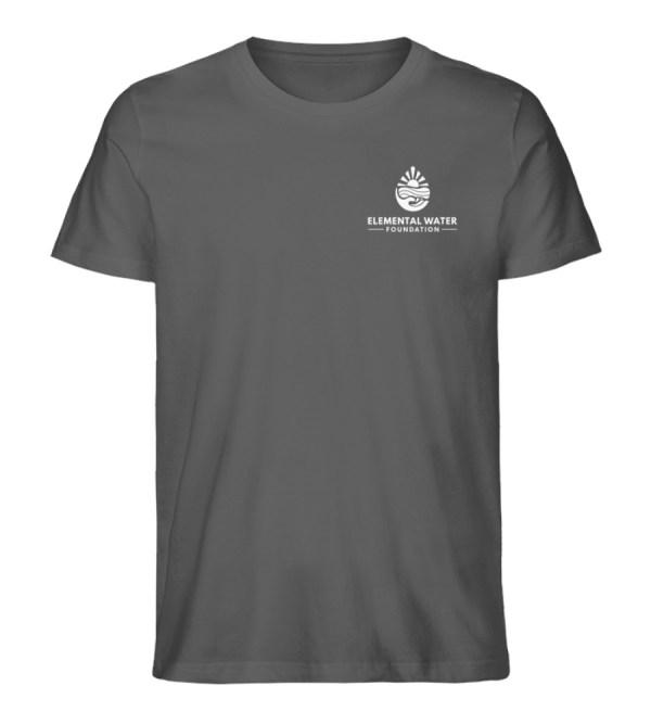 Organic T-shirt with White Logo - Men Premium Organic Shirt-6896