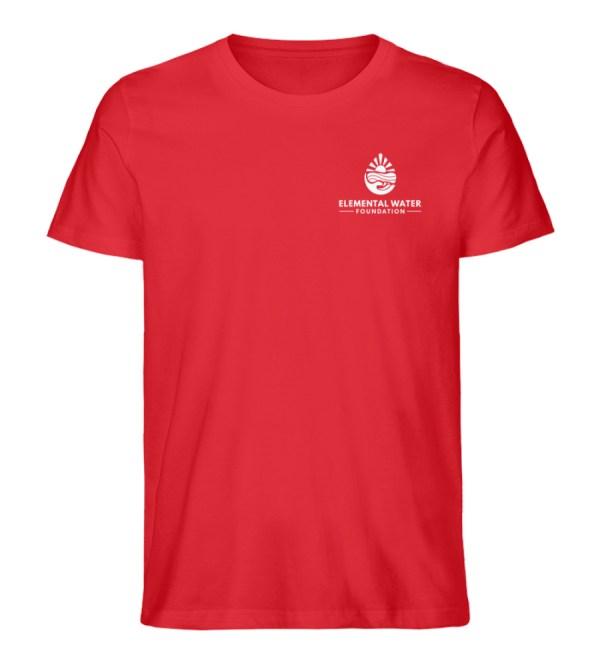 Organic T-shirt with White Logo - Men Premium Organic Shirt-6882