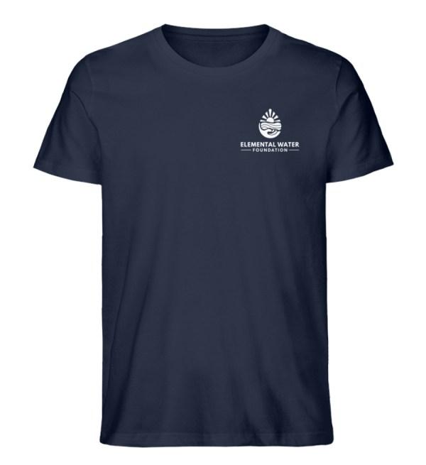 Organic T-shirt with White Logo - Men Premium Organic Shirt-6887