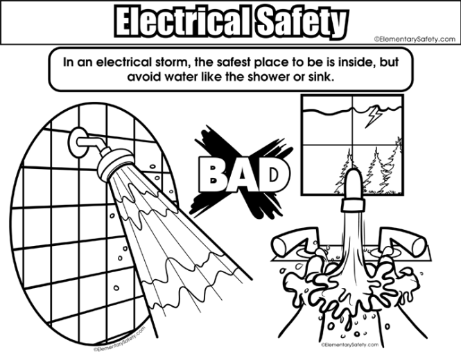 Tornado Safety Coloring Pages | Coloring Page for kids