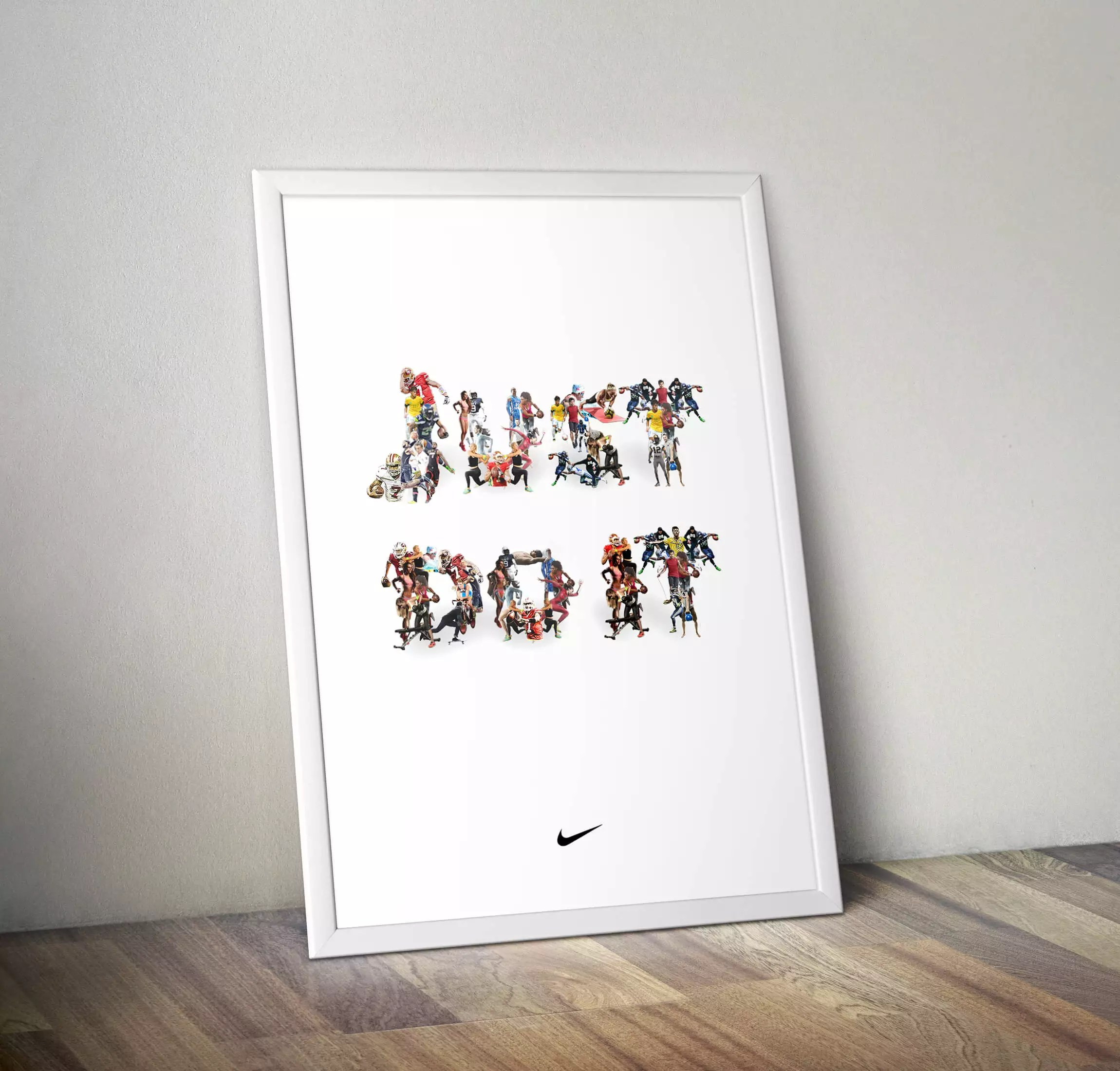tutorial de poster no photoshop como fazer passo a passo nike just do it