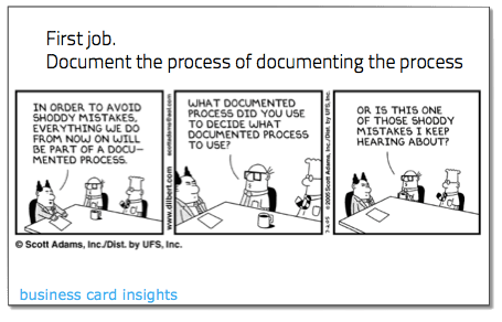 document the process process