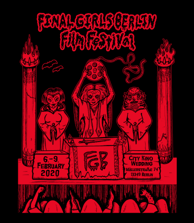 Final Girls Cult Design red on black NO CURTAIN
