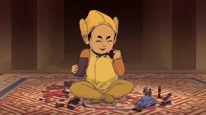 Dalai Lama Child Animation