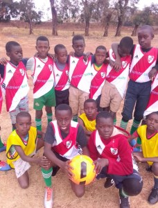 The Kids in Zambia with elementsuite donated equipment