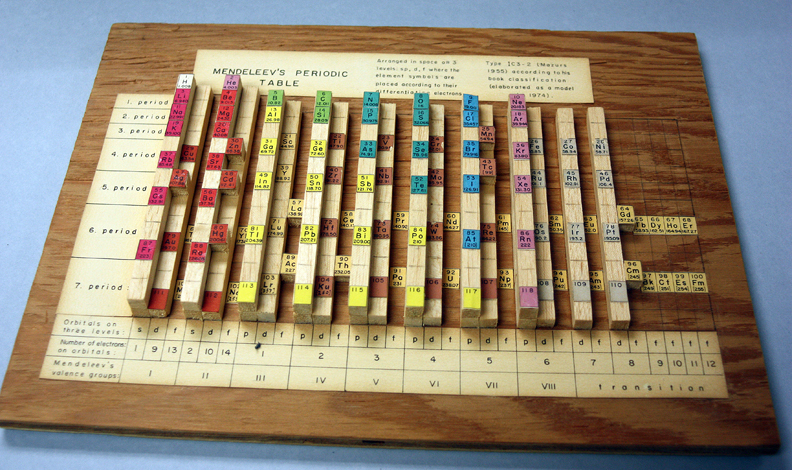 Wooden periodic table by Edward Mazurs