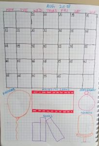 Gratitude log reminders and trackers in a bullet journal