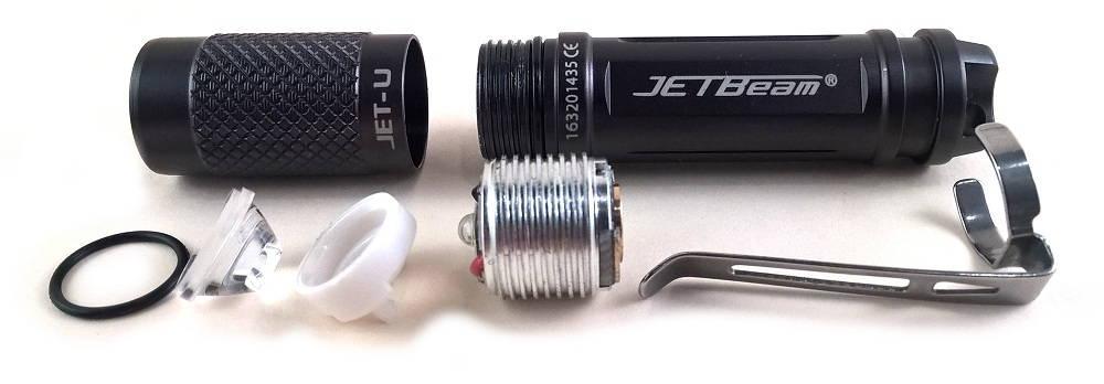 JetBeam JET-u szétszedve
