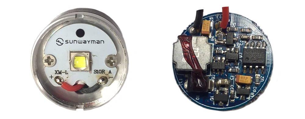 Sunwayman T25C LED és driver