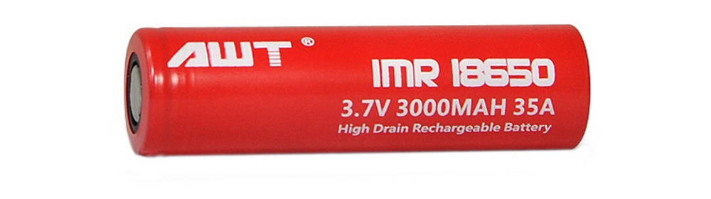 AWT RED IMR18650 3000mAh lítium-ion akkumulátor