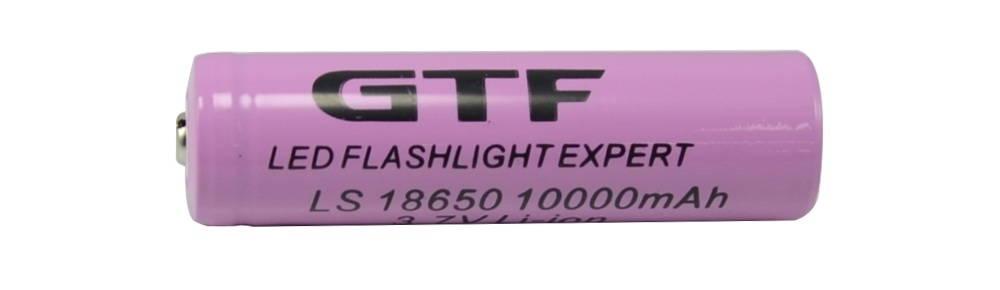 GTF 18650 10000mAh gagyi lítium-ion akkumulátor hazudott kapacitással