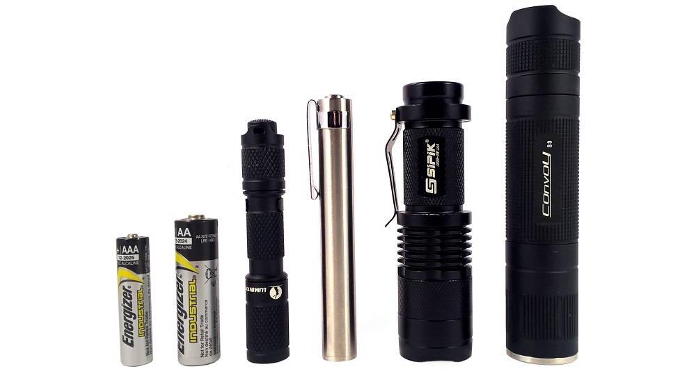 AAA elem, AA elem, Lumintop Tool, BLF 348, Sipik SK68, Convoy S3
