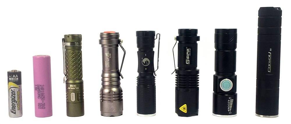 AA alkáli elem, 18650 akkumulátor, Klarus Mi7, UltraFire U-58, UKing ZQ-X900, Sipik SK68, Ultra Bright Rechargeable LED Torch, Convoy S3