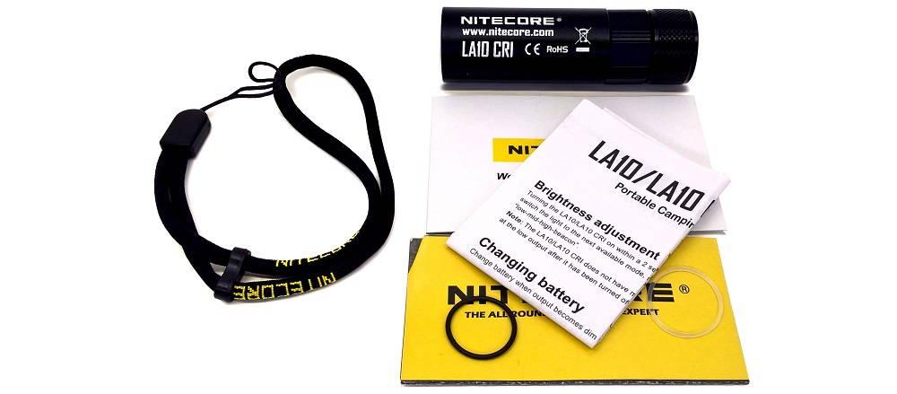 Nitecore LA10 CRI tartozékok