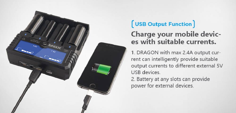 XTAR VP4 PLUS DRAGON powerbank banner