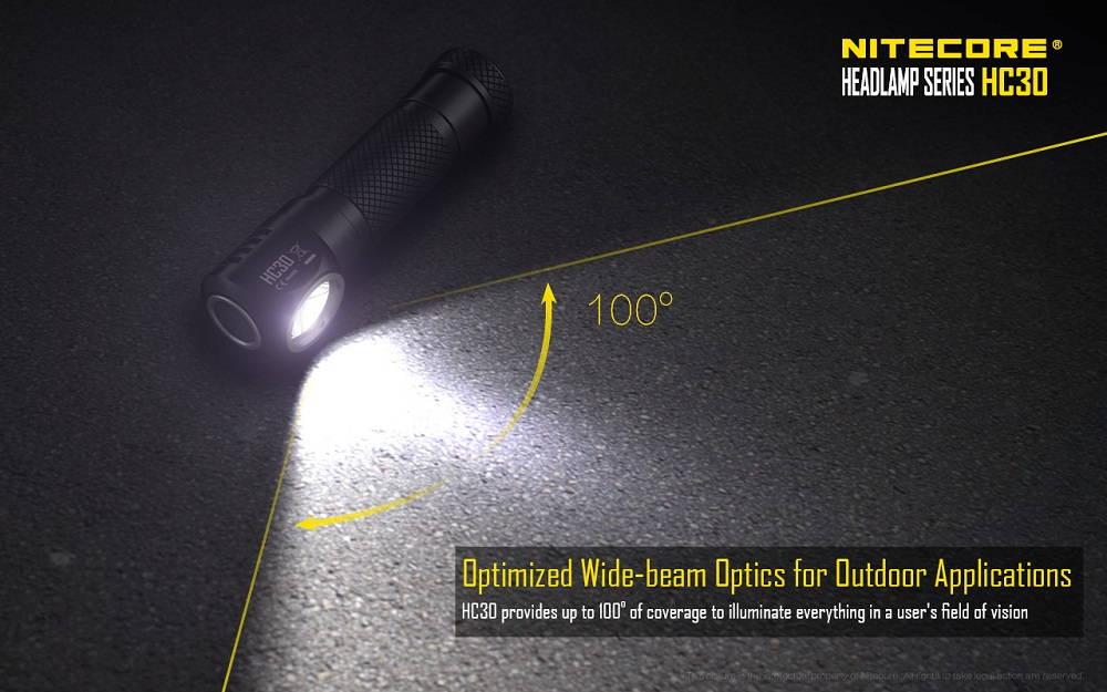 Nitecore HC30 wide-beam banner