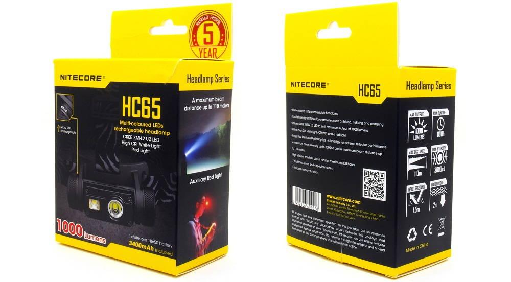 Nitecore HC65 doboza