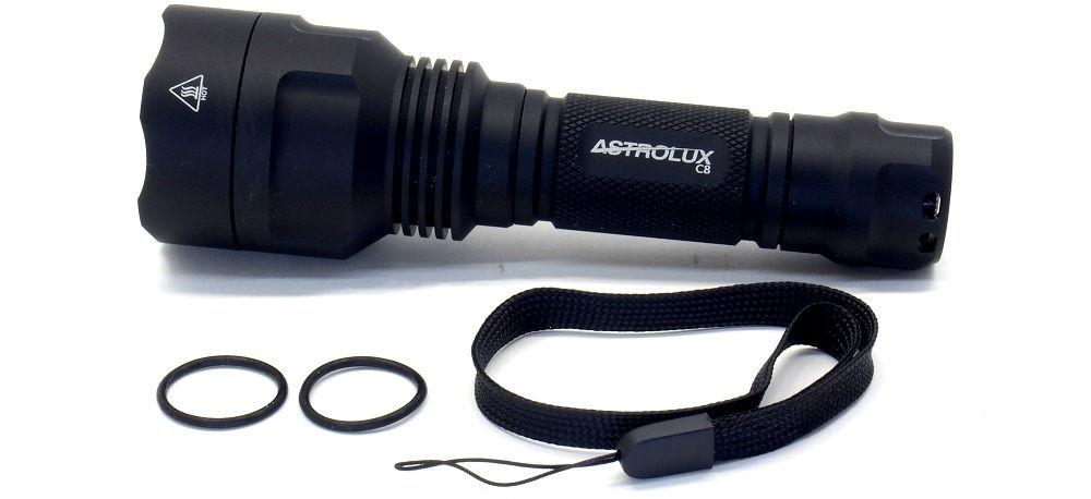 Astrolux C8 tartozékok
