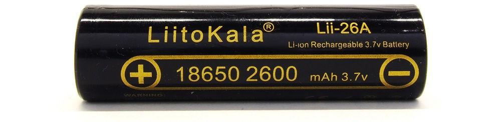 LiitoKala Lii-26A lítium-ion akku