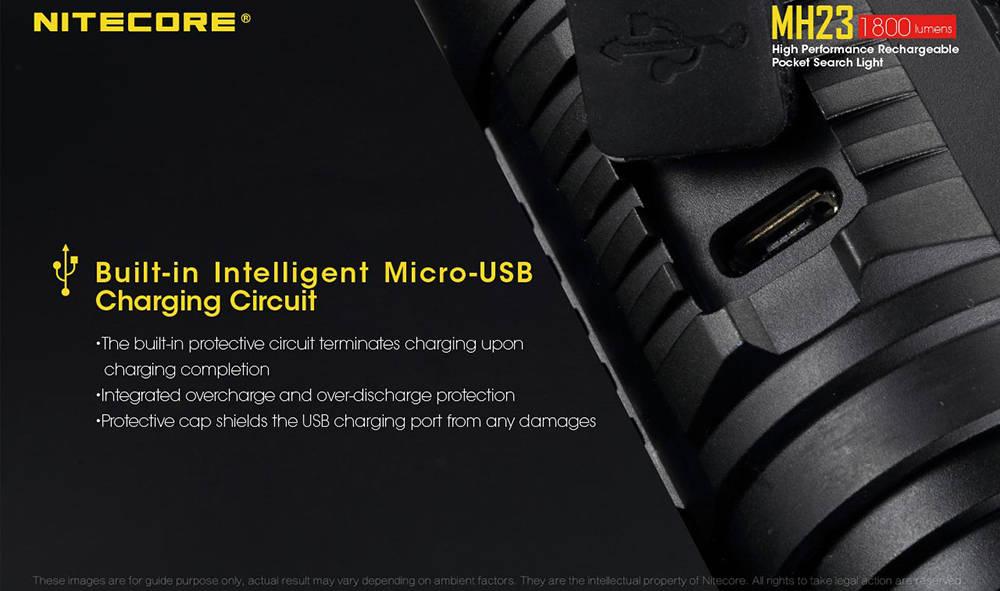 Nitecore MH23 charging banner