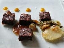 Rabo de toro con salsa de orejones