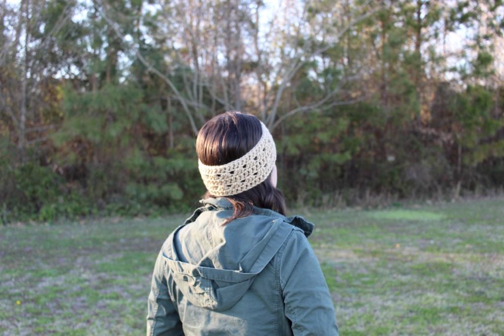 crocus crochet headband