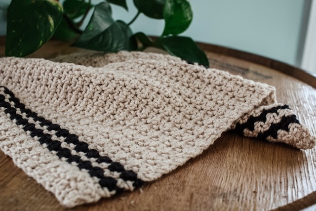 The Cobblestone Crochet Dishtowel