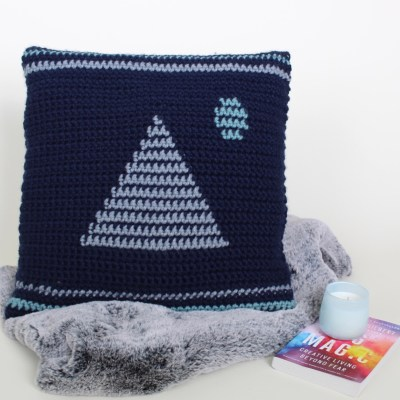 The Moonrise Crochet Pillow