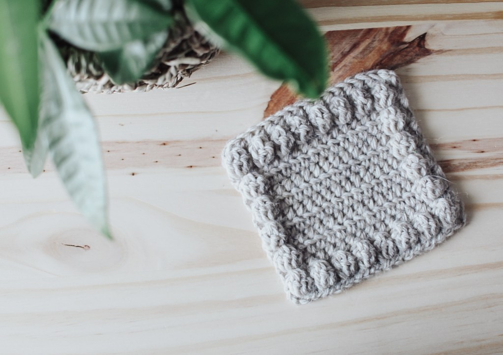 The Bobble Crochet Coaster