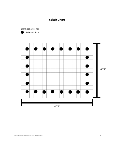 The Bobble crochet coaster chart