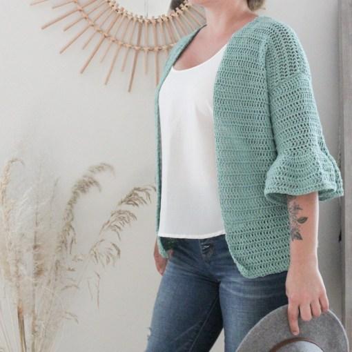 The Tides crochet cardigan pattern