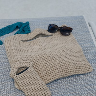 The Dunes Crochet Beach Bag and Phone Pouch
