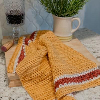 The Harvest Crochet Dish Towel
