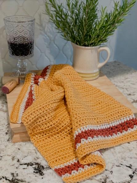 The Harvest crochet dishtowel