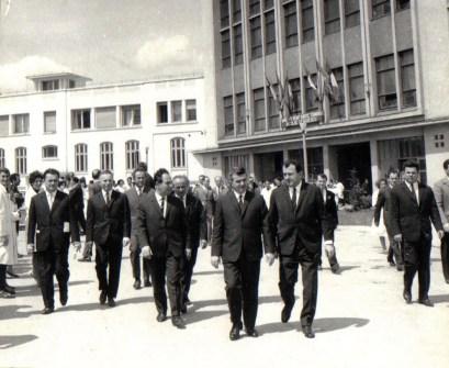 Nicolae Ceauşescu în vizită la Institutul de Fizică Atomică (6 mai 1970)