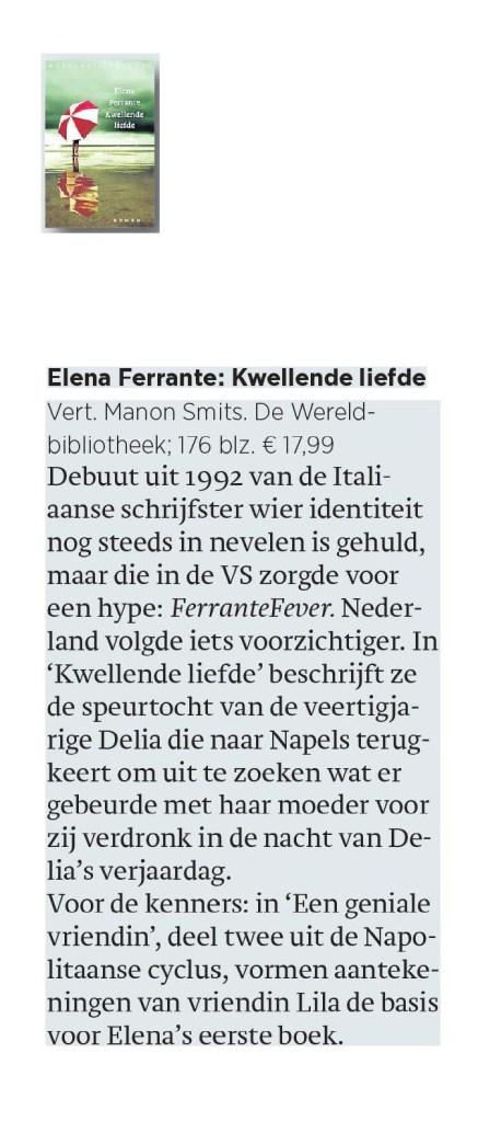 Elena Ferrante: Kwellende liefde
