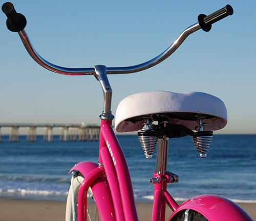 Pink: as in Bicycle