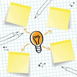 Idee Konzept Ideenskizze