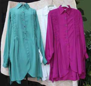 A Trio of Art Silk Long Shirts