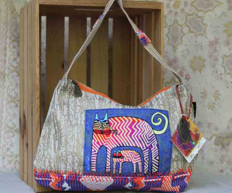 Laurel Burch bag Zig Zag Gatos LB5431