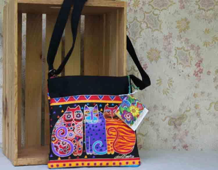 Feline Friends Laurel Burch Crossbody bag
