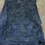 t-shirt with celtic cross design