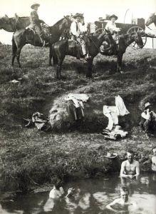cowboys bathing