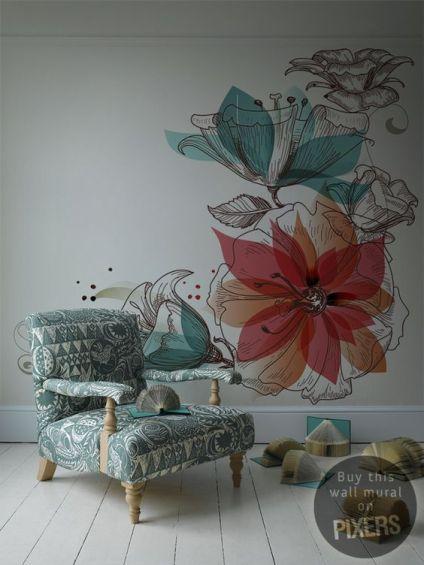 tapet vegetal flori